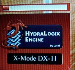 Обзор Sapphire Pure Black P67 Hydra - индиактор активности режима X-Mode в Dirt2