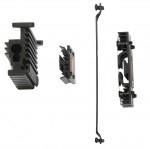 Обзор Sapphire Pure Black P67 Hydra - все радиаторы материнской платы, вид сбоку