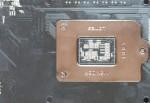 Обзор Sapphire Pure Black P67 Hydra - сокет LGA1155, вид снизу, задняя рамка