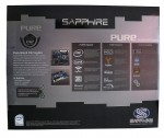 Обзор Sapphire Pure Black P67 Hydra - упаковка материнской платы, задняя сторона. Коробка