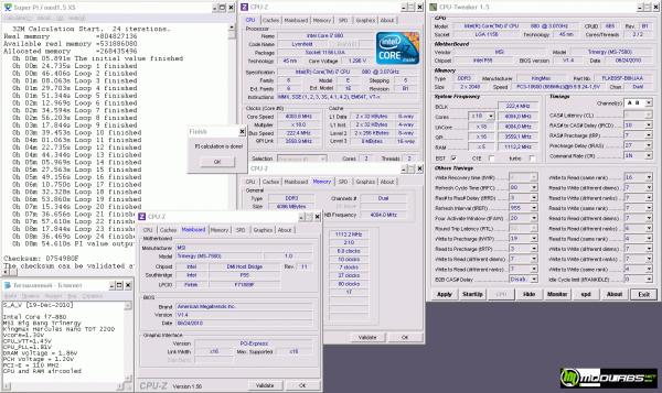 Результат в SuperPi 32M на частоте 4003 МГц