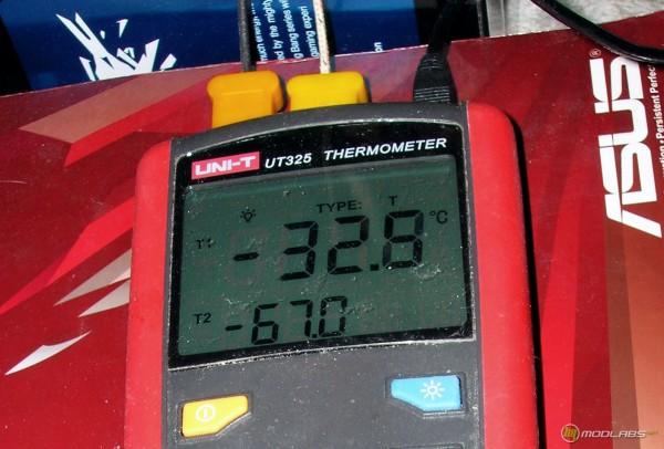 Температуры на памяти (-32) и процессоре (-67)