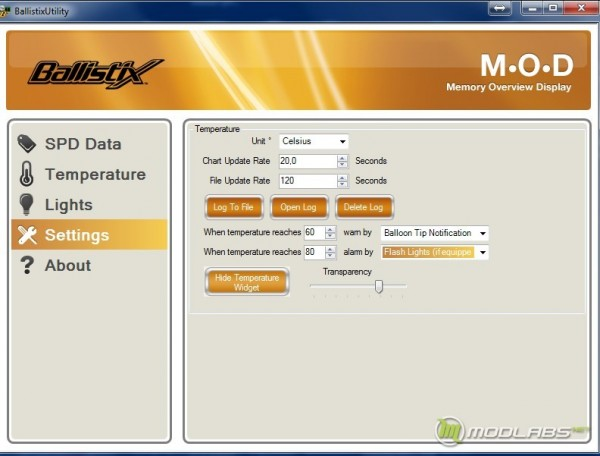 Ballistix M.O.D. Utility screen 4