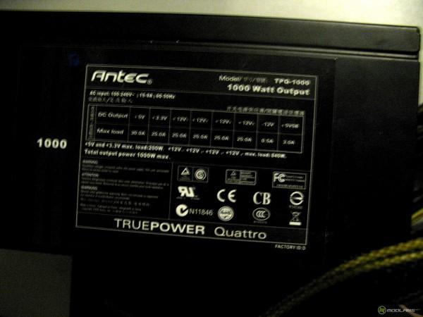 antec 1000W label