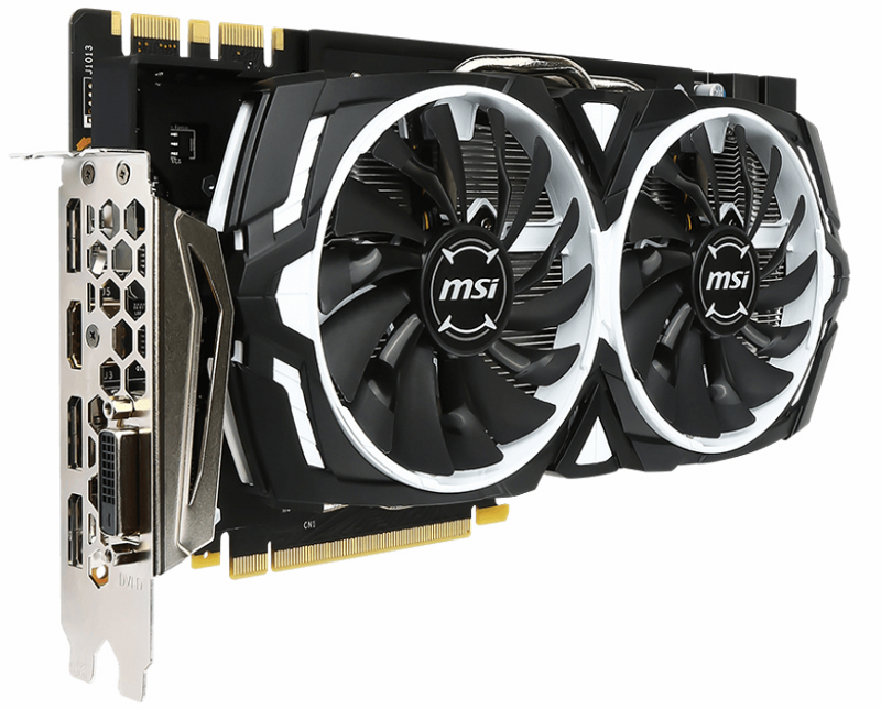 msi geforce gtx 1070 armor 8g oc обзор