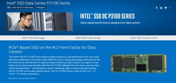 Intel SSD DC P3100