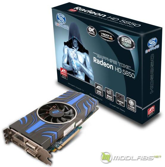 Sapphire Radeon HD 5850 Toxic, видеокарта