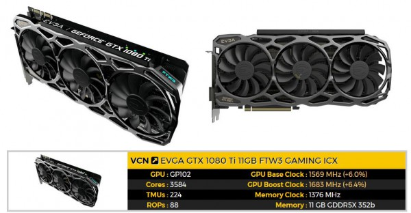 EVGA GeForce GTX 1080 Ti FTW3 GAMING (11G-P4-6696-KR)