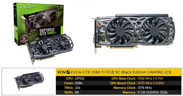EVGA, GeForce GTX 1080 Ti SC Black Edition GAMING ICX