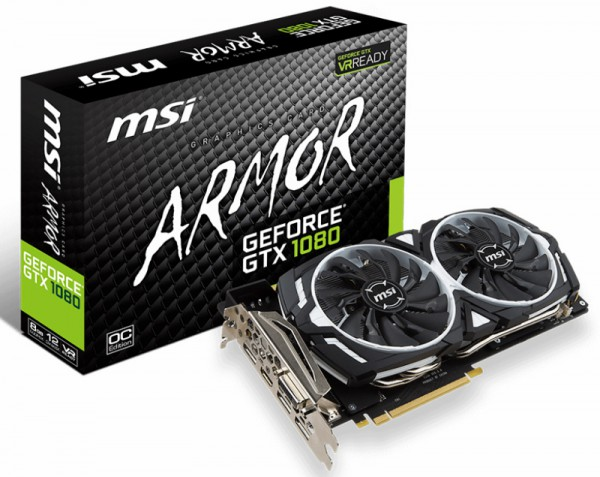 MSI GeForce GTX 1080 Armor 8G OC