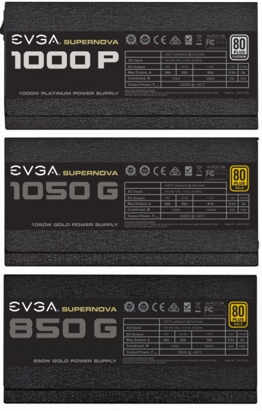 EVGA SuperNOVA 850 GS, 1050 GS, SuperNOVA 1000 PS