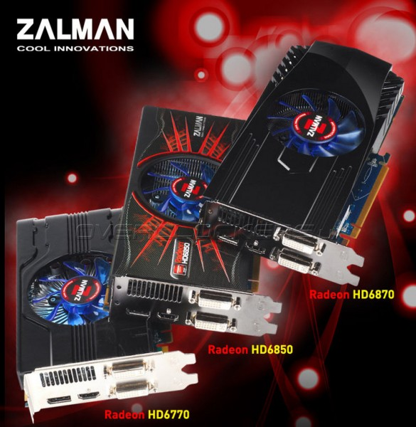 Zalman HD6870-H, Zalman HD6850-H и Zalman HD6770-H