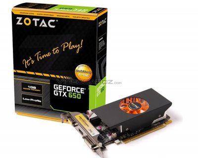 Видеокарта ZOTAC GeForce GTX 650 LP
