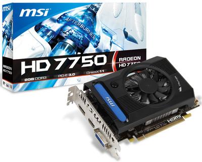 Видеокарта MSI Radeon HD 7750 с 2 Гбайт VRAM DDR3