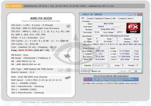 Процессор AMD FX-8350 разгон