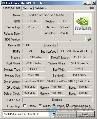 Видеокарта GeForce GTX 660 SE характеристики
