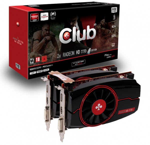 Club 3D Radeon HD 7770 GHz Edition CrossFire Pack