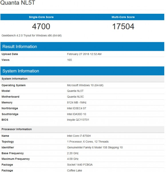 Core i7-8750H