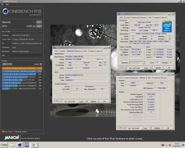 8 Pack, Cinebench R15