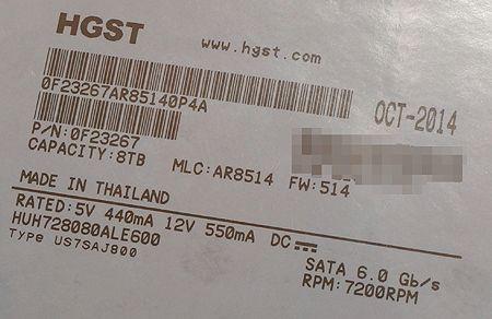 HGST Ultrastar He8 8 TB