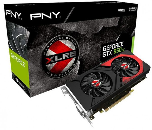 PNY GeForce GTX 950 2 GB XLR8 OC GAMING