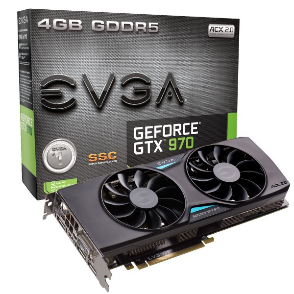 EVGA GeForce GTX 970 SSC ACX 2.0 (04G-P4-3975)