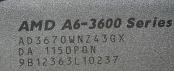 AMD A8-3870K и A6-3670K