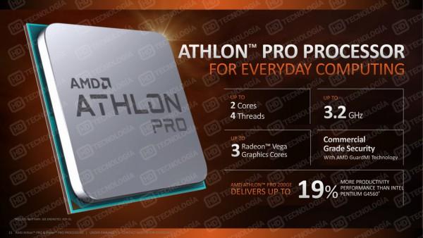 Ryzen 7 PRO 2700X, Ryzen 7 PRO 2700, Ryzen 5 PRO 2600, Athlon Pro 200GE