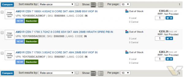 Ryzen 7, AMD, Ryzen 7 1800X, Ryzen 7 1700X, Ryzen 7 1700