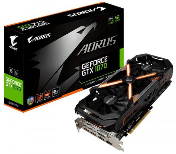 Gigabyte, GeForce GTX 1070 AORUS, GV-N1070AORUS-8GD rev2