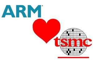 ARM и TSMC логотипы