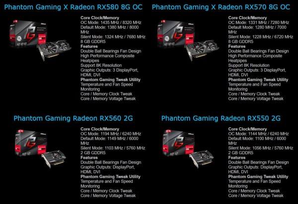 ASRock Radeon RX 500 Gaming X Phantom