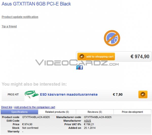 ASUS GeForce GTX TITAN BLACK (GTXTITANBLACK-6GD5)