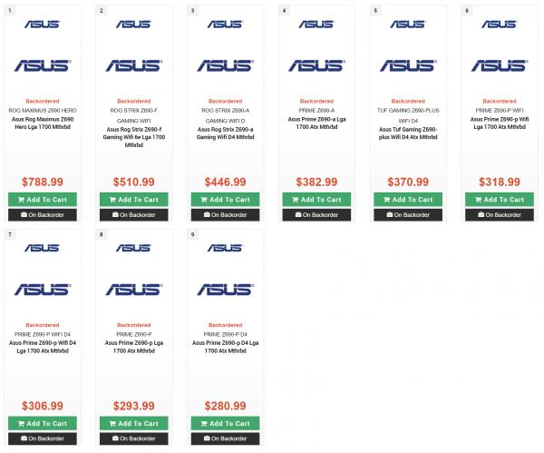 ASUS Z690, Intel Z690, PC Canada, ROG Maximus Z690 Hero, ROG STRIX Z690-F Gaming WiFi, ROG STRIX Z690-A Gaming WiFi D, TUF Gaming Z690-PLUS WiFI D4, PRIME Z690-A, PRIME Z690-P WiFi, PRIME Z690-P WIFI D4, PRIME Z690-P, PRIME Z690-P D4