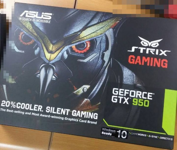 ASUS STRIX GTX 950 2GB (STRIX-GTX950-DC2OC-2GD5-GAMING)