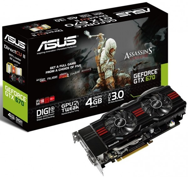 ASUS GeForce GTX 670 DirectCu II 4 GB (GTX670-DC2G-4GD5)