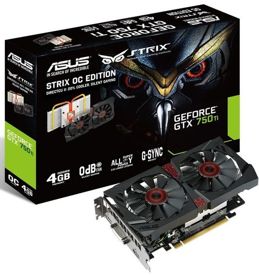 ASUS GeForce GTX 750 Ti Strix 4 GB