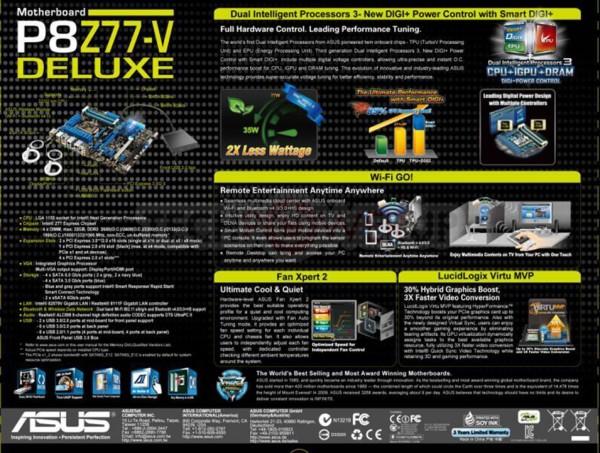 ASUS P8Z77-V Deluxe