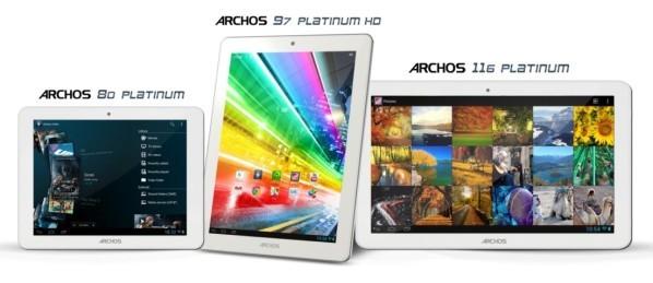 Archos, 80 Platinum, 97 Platinum, 116 Platinum