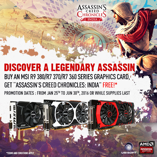 Assassins Creed Chronicles: India, Radeon R9 380, Radeon R7 370, Radeon R7 360