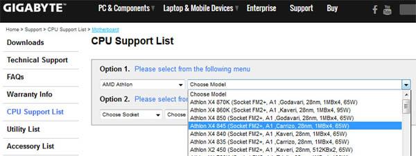 Athlon X4 835, X4 845, AMD