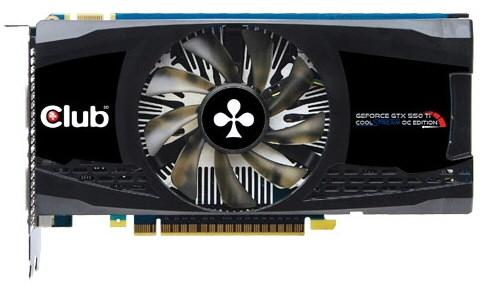 Видеокарта Club 3D GeForce GTX 550Ti CoolStream OC Edition 2 ГБ