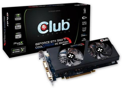 Видеокарта Club 3D GeForce GTX 560Ti CoolStream OC Edition