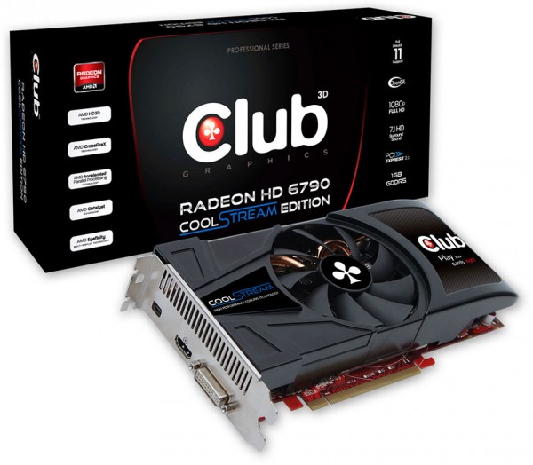 Видеокарта Club 3D Radeon HD 6790 CoolStream