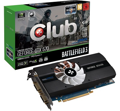 Club3D GeForce GTX 570 Battlefield 3
