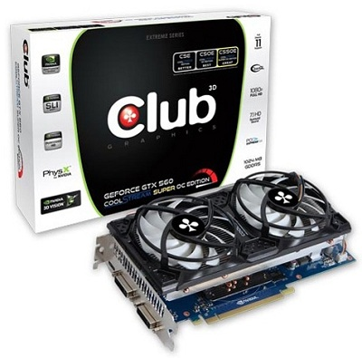 Club 3D GeForce GTX 560 CoolStream Super OC Edition