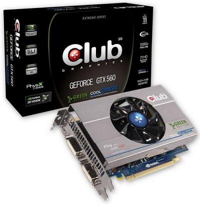 Club 3D GeForce GTX 560 Ti Green Edition