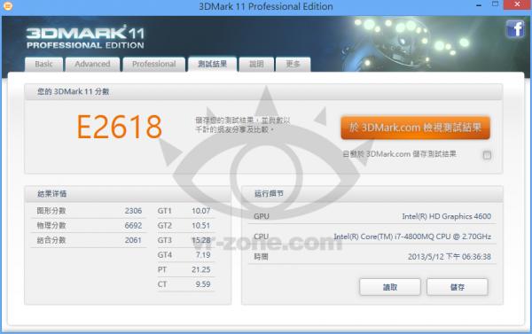 Intel Core i7-4800MQ 3DMark 11
