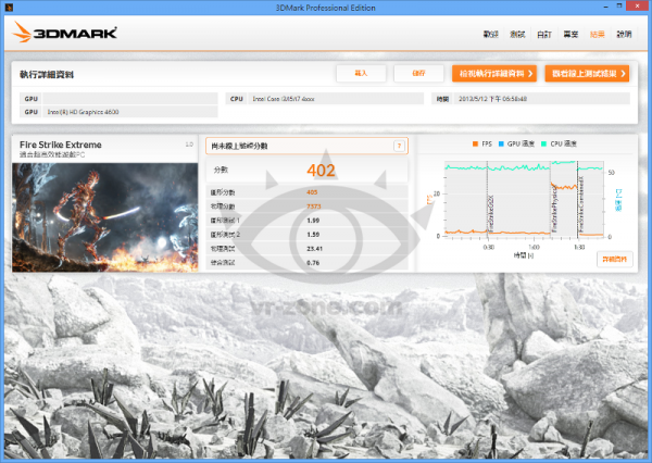 Core i7-4800MQ Fire Strike Extreme