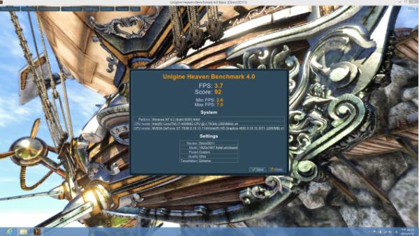 Intel Core i7-4800MQ Unigine Heaven 4.0